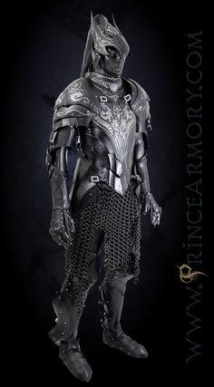 larp-pics: Dark Souls armor is gorgeous Artorias Leather Fantasy Armor Dark Souls by =Azmal Helmet Armor, Arm Armor, Body Armor, Medieval Armor, Medieval Fantasy, Armor Concept, Concept Art, Chainmail Armor, Costume Armour
