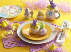 I love yellow and lavendar at Easter!