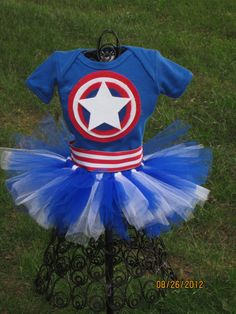 Inspired by Captain America Tutu Set- Small on Etsy, $34.00