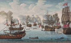 Naval School, 18th Century  'S.G.B. Rodney in the Formidable captures the Count de Grasse with the Ville de Paris on the 12th of April 1782 off the Caribbean' http://www.rountreetryon.com/