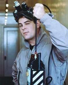 Dan Aykroyd as Ray Stantz, promotional shot from Ghostbusters