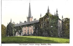 OLD KENYON, KENYON COLLEGE, GAMBIER OHIO about 1906 OH.