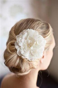 wedding hair with peony - Google Search