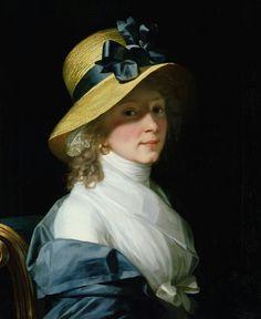 """""""Портрет Фрау сенатора Элизабет Hudtwalcker"""" по Монье, Жан-Лоран, 1798"""