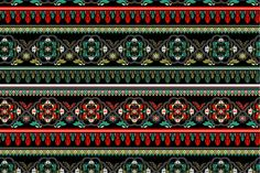 2 (green and red) Seamless Patterns by Sunny_Lion on Creative Market