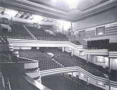 Interior del cine Europa, 3 plantas: butacas, entresuelo y principal, ademas de los palcos laterales