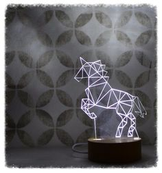 Perfect everywhere from the hall table to a child's night light. Our stylish unicorn lamp adds a touch of magic to any room. #FantasticalSteed #LEDlamp