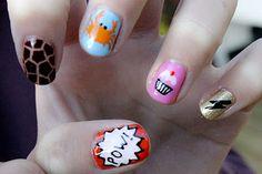 Crab nail art