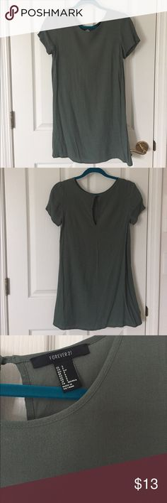 Green T shirt Dress Forever21 green t shirt dress. Worn and washed one time. Rayon material. Forever 21 Dresses