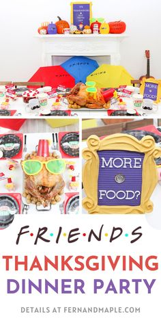Throw a FRIENDS-themed Thanksgiving or Friendsgiving Dinner Party with these fun DIY decor, place setting ideas and more from fernandmaple.com! Friends Thanksgiving Episodes, Thanksgiving Parties, Thanksgiving Ideas, Nyc Coffee Shop, Friends Tv Show, Party Themes, Party Ideas, Favorite Holiday, Holiday Crafts