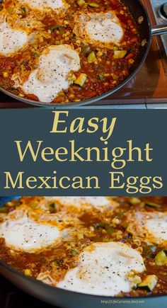 Easy Weeknight Mexican Eggs - This is one of my go-to dinners when I want something quick and tasty. I'd even call it comfort food. But, dinner that's ready in about 10 minutes, simply rocks! (and it's budget-friendly!)