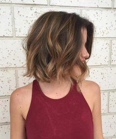 Caramel Balayage On Short Hair