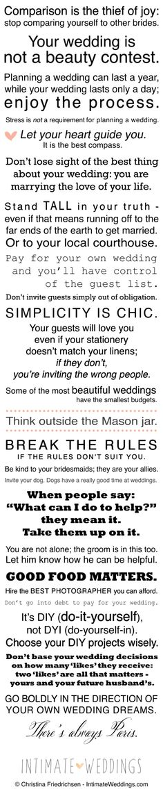 "Stay Sane While Planning Your Wedding with ""The Bride's Manifesto"" https://weddingsfromtheheartblognet.wordpress.com/2017/02/14/stay-sane-while-planning-your-wedding-with-the-brides-manifesto/ #wedding #weddingplanning #daytonweddingplanner"
