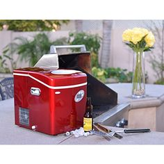 Newair AI-215R Red Portable Ice Maker with 50-Pound Daily Capacity $ 235.01 Ice Makers Product Features Makes up to 50 pounds of ice a day – perfect for parties and special events Features a portable design with no installation required – just plug in, add water & enjoy freshly made ice in minutes Indicator lights are included .. http://www.refrigeratorsworld.com/newair-ai-215r-red-portable-ice-maker-with-50-pound-daily-capacity-30/