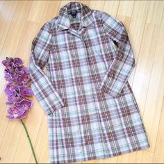 "GAP rain jacket, trench coat, M. Very cute plaid trench coat/rain jacket from the Gap. Size medium. Browns, pinks, greens. Excellent condition. A really nice coat. Length 37.5"". GAP Jackets & Coats Trench Coats"