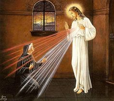 October 5 - Feast Day of St. Sacred Heart of Jesus, have mercy on us. Faustina Kowalska, pray for us. Divine Mercy Novena, Divine Mercy Sunday, Miséricorde Divine, Divine Mercy Image, Devine Mercy, St Faustina Kowalska, Year Of Mercy, Image Jesus, I Need Jesus