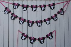 Birthday Banner.. could use the same mouse cut outs and red bow ties for Jameson's banner.