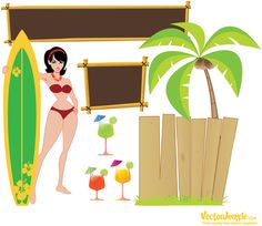 (eps & pdf files) Free Vector Art, Vector Graphics, Free Characters, Tiki Lounge, Tiki Room, Craft Free, Luau Party, Vector Design, Graphic Design