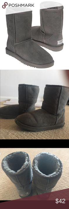 Grey Short Uggs These uggs are grey and short. They've been worn a lot, but are still in good condition. Willing to negotiate on the price :) UGG Shoes Winter & Rain Boots