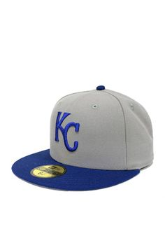 new concept 1d574 7a7dc Kansas City Royals 1999 Road 59FIFTY Gray New Era Fitted Hat