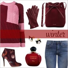 Go Sweater {2nd place in official Polyvore contest: Sweater Weather} by elli-argyropoulou on Polyvore featuring polyvore, fashion, style, House of Holland, Camilla Elphick, Mansur Gavriel, Mark & Graham, Christian Dior and clothing