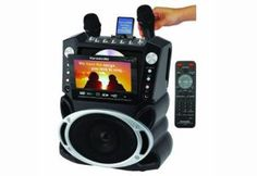 This Karaoke USA DVD/ CD G/ G Karaoke System features a gorgeous color screen that is easy to read from far away. This Emerson karaoke player comes with 300 songs on disc but will play any normal karaoke CDG, DVD, Karaoke or DVD movie. Emerson, Karaoke Player, Disney Karaoke, Karaoke Songs, Mp3 Player, Karaoke Mixer, Karaoke Party, Best Karaoke Machine, Shopping
