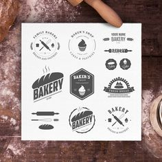 Bakery logos bundle by 1baranov on Creative Market