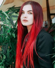 blood red hair dye