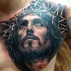 Black Jesus Tattoo Idea