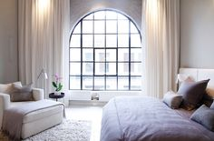 // the arched casement window