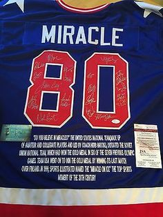0ee1de84f48 1980 USA OLYMPIC MIRACLE ON ICE SIGNED USA OLYMPIC CUSTOM BLUE JERSEY JSA