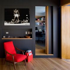 "Muhammed Ali boxing canvas room view, 1 piece canvas 26"" x 18"" starting at $70.00 for 0.75"" depth."