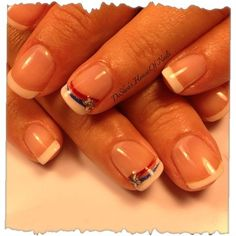 of July nails by - Nail Art Gallery by Nails Magazine Funky Nail Designs, Nail Art Designs, Get Nails, How To Do Nails, French Nails, Patriotic Nails, 4th Of July Nails, July 4th, Nagel Gel