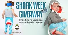 Take a bite out of summer with these cute Shark Leggings! We're giving out a pair of leggings each day. Make sure to LIKE Doodle Pants on Facebook to see if you win!