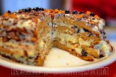 Торт Трухлявый пень в разрезе