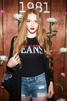 Larsen Thompson Photos Photos - Model Larsen Thompson attends the Guess 1981 fragrance launch at Chateau Marmont on March 21, 2017 in Los Angeles, California. - GUESS 1981 Fragrance Launch