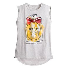 Belle Perfume Fashion Top for Women by Disney Boutique | Disney Store This fashionable tee features a ficticious bottle of French perfume called ''Beauty.'' In what's written like an ad, the makers of Beauty urge women to ''Tame the Beast Within.''