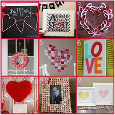 Love these crafty idea's for Vday
