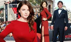 Rebecca Ferguson steals spotlight from co-star Tom Cruise at premiere