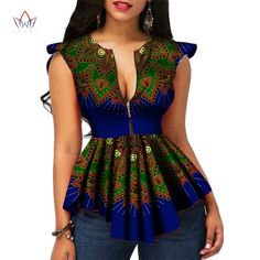 Modern Fashion Womens Tops Dashiki African Print Shirt Plus Size African Print Shirt, African Shirts, African Print Dresses, African Dress, African Dashiki, African Fashion Designers, Latest African Fashion Dresses, African Print Fashion, Africa Fashion
