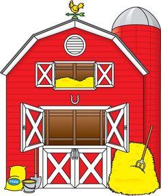 farmer clip art free barn clip art image red and white barn rh pinterest com barn clipart outline barn clip art black and white