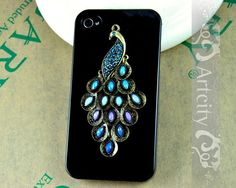 Iphone 4S case, Iphone 4 Case, Peacock Iphone Case