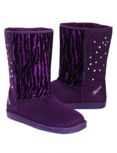 Purple Zebra Boots - to die for! Sock Shoes, Ugg Shoes, Shop Justice, Justice Stuff, Justice Boots, Nylons, Purple Zebra, Cute Slippers, Justice Clothing