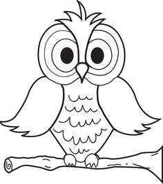 Free, printable coloring page of a cartoon owl. To print it or any of our other coloring pages go here: http://www.mpmschoolsupplies.com/ideas/4370/cartoon-owl-coloring-page/