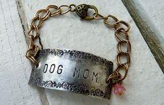 Dog Mom Cuff Bracelet by Crafting4Cause on Etsy, $22.00