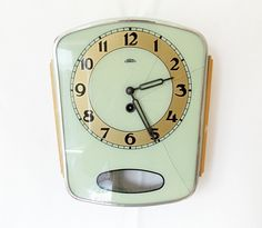 Vintage 1950s Kitchen wall clock/ Made in czechoslovakia