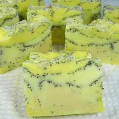 sapone al limone con semi di papavero