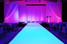 Runway to glow all white (ignore stage backdrop in this picture)