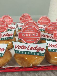 Class president campaign idea! #krispykreme #creative #donuts