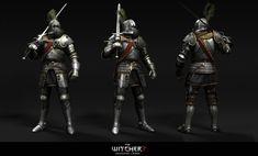 Knight Witcher 2 render by Scratcherpen